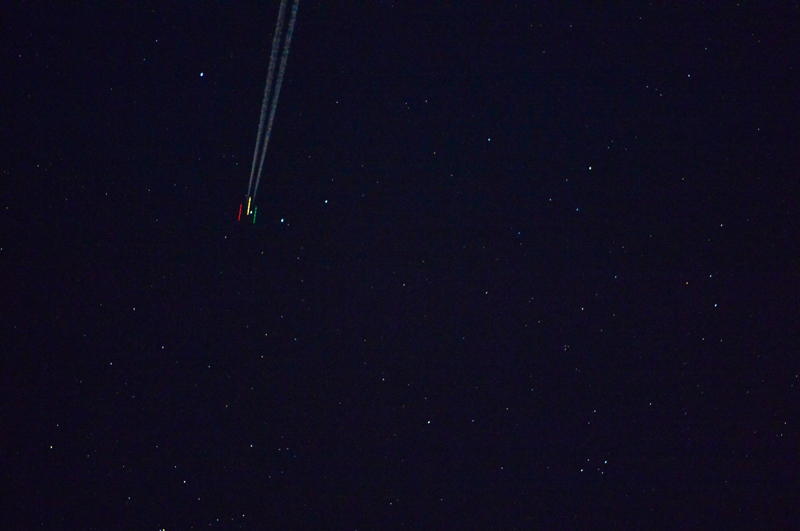 Aircraft imaged at night