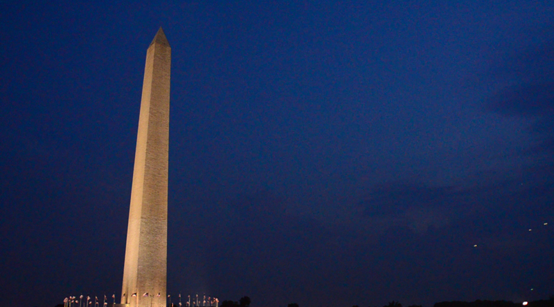 7-04-2012 Washington Monument UFO formation is consistent with UFOs from 1952
