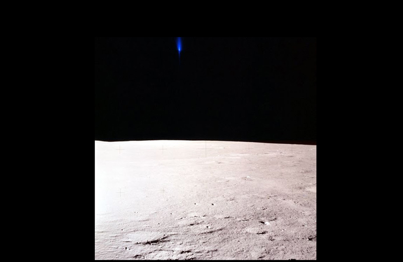 Apollo 11 Lunar Surface UFO P-51 Blue
