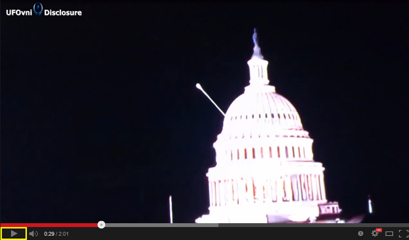 Beam of Light Registered by a camera Live stream of US Capitol  3 Aliens