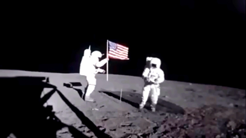 Dr. Edgar Mitchell Apollo 14 Mission Footage Lunar Surface Luminosity SM SDM