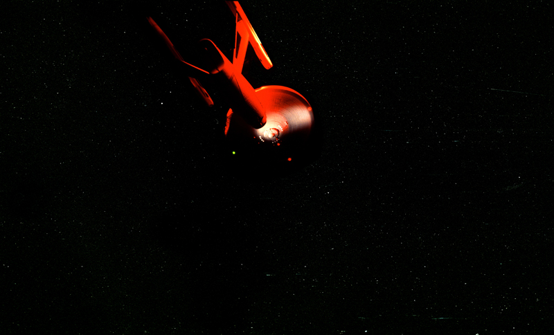 Enterprise painted in Digital UFO  J-4 Red
