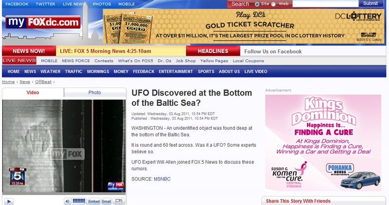 Fox News 5 and UFO Expert Will Allen