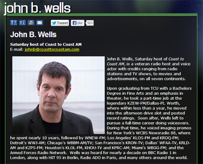 John B Wells on Coast To Coast