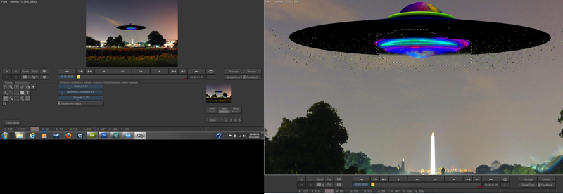 Combstion 3D Compositing Effects applied to Saucer engine