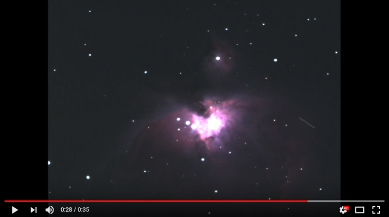 Strange lights traveling across Orion Nebula 11-22-2015