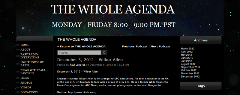 The Whole Agenda: Wilbur Allen