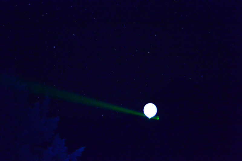 Extended reach of the green laser was limited, according to the camera