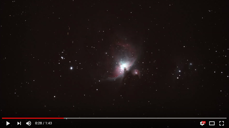 Unknown Objects during Orion Nebula Capture