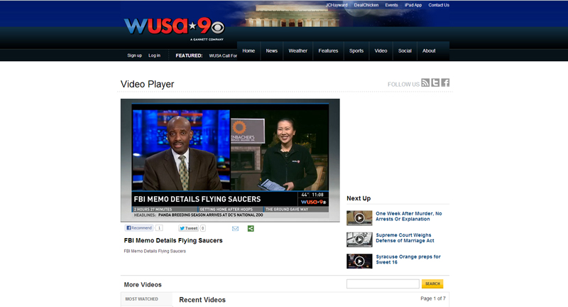 WUSA CBS News 9 and UFOdc.com