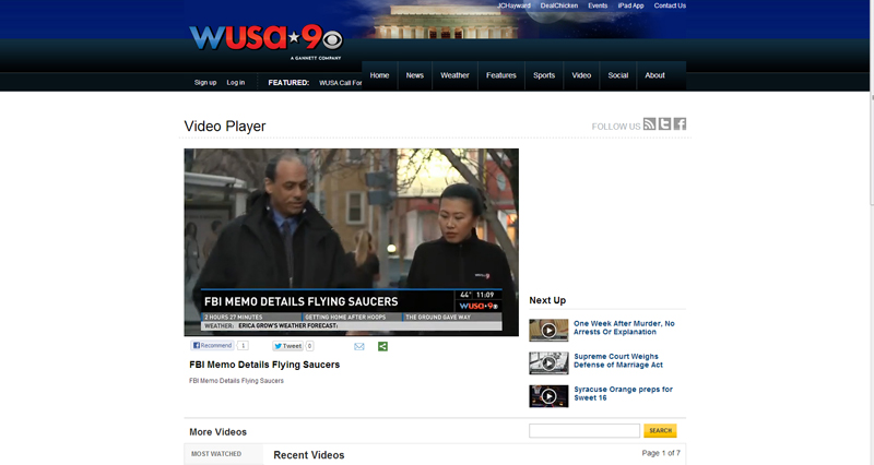 WUSA CBS News 9 Washington and UFOdc.com