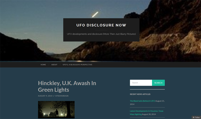 Green Beam UFO in Hinckley UK